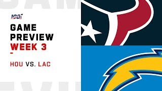 Houston Texans vs. Los Angeles Chargers Week 3 NFL Game Preview