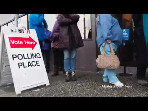 Early Voters File In At Alaska's Division Of Elections