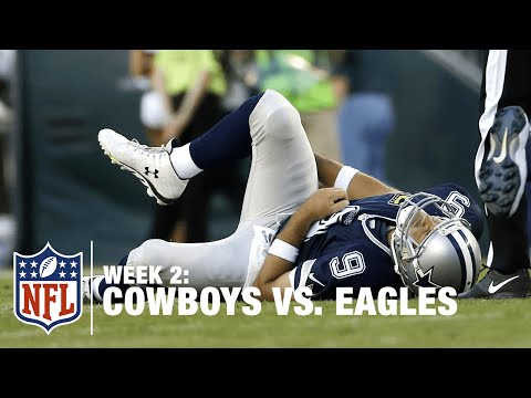 Tony Romo Fumbles and Gets Injured on the Play   Cowboys vs. Eagles   NFL