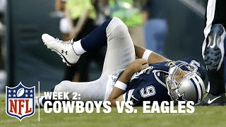Tony Romo Fumbles and Gets Injured on the Play | Cowboys vs. Eagles | NFL