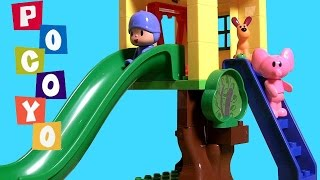 Pocoyo Blocks Treehouse At The Park Block Labo Parque Casa Del Árbol Bloques Con Tobogán Baby Toys