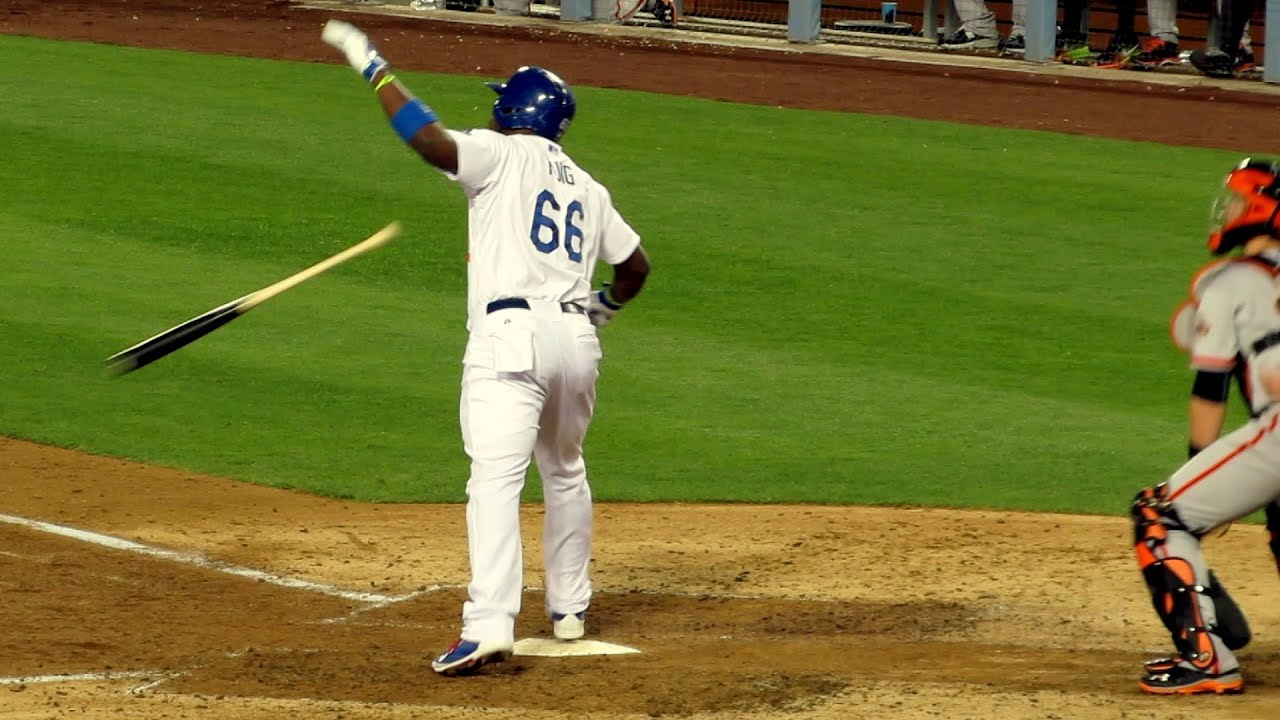 Yasiel Puig Home Run Bat Flip & Confrontation with Pitcher ...