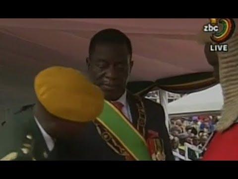 Breaking News Zimbabwe Inauguration: Emmerson Mnangagwa Sworn in As Zimbabwe New President