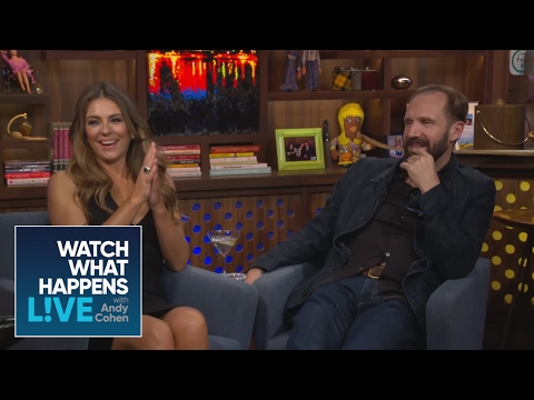 Andy talks to Ralph Fiennes & Elizabeth Hurley about Manscaping  WWHL