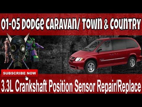 01-05 Dodge Caravan 3.3L Crankshaft Position Sensor Repair Replace on