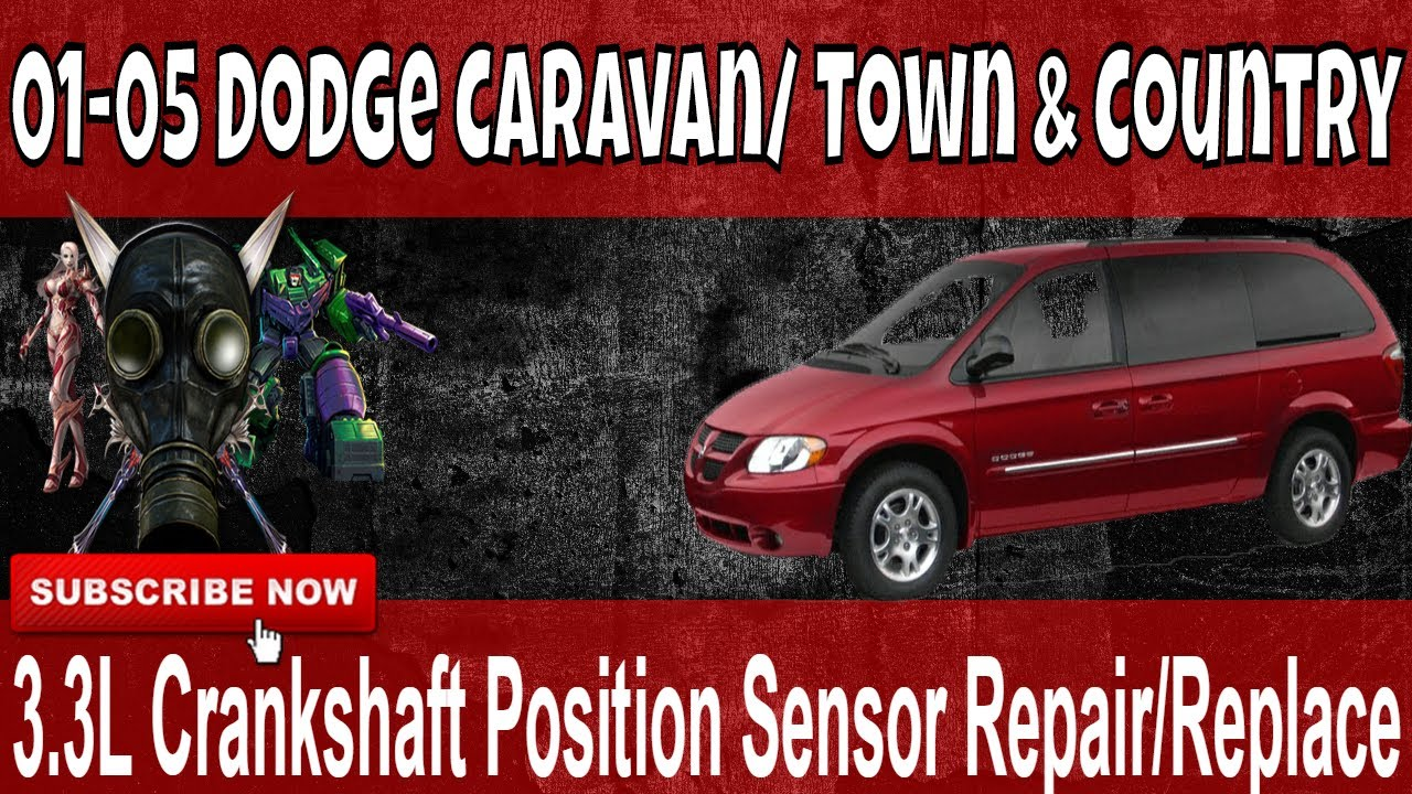 01 05 dodge caravan 3 3l crankshaft position sensor repair replace diy [ 1280 x 720 Pixel ]