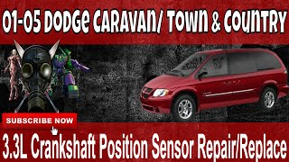 01 05 dodge caravan 3 3l crankshaft position sensor how to repair replace