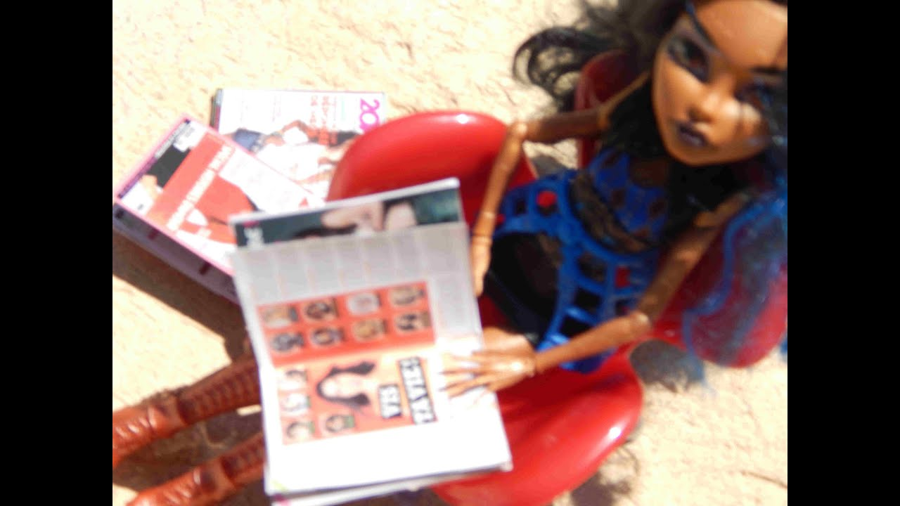 Comment fabriquer des magazines pour poup e type monster high pullip barbie youtube - Comment dessiner une monster high ...