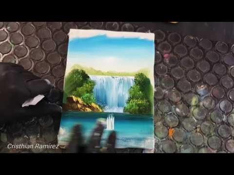 "Finger Painting #8 ""waterfall"" 4k"