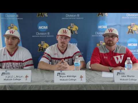 Wabash 2018 NCAA Division III Baseball Mideast Regional Presser 5-20-18