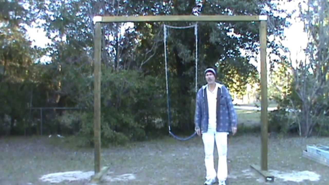 Easy DIY Swing Set  YouTube