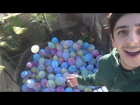 Thumbnail: TRAMPOLINE FILLED WITH BALLOONS (BROKEN WRIST)