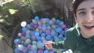 TRAMPOLINE FILLED WITH BALLOONS (BROKEN WRIST)