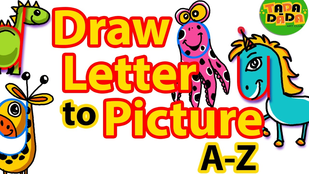 How to draw pictures from letters a z step by step kids drawing how to draw pictures from letters a z step by step kids drawing tada dada art club thecheapjerseys Images