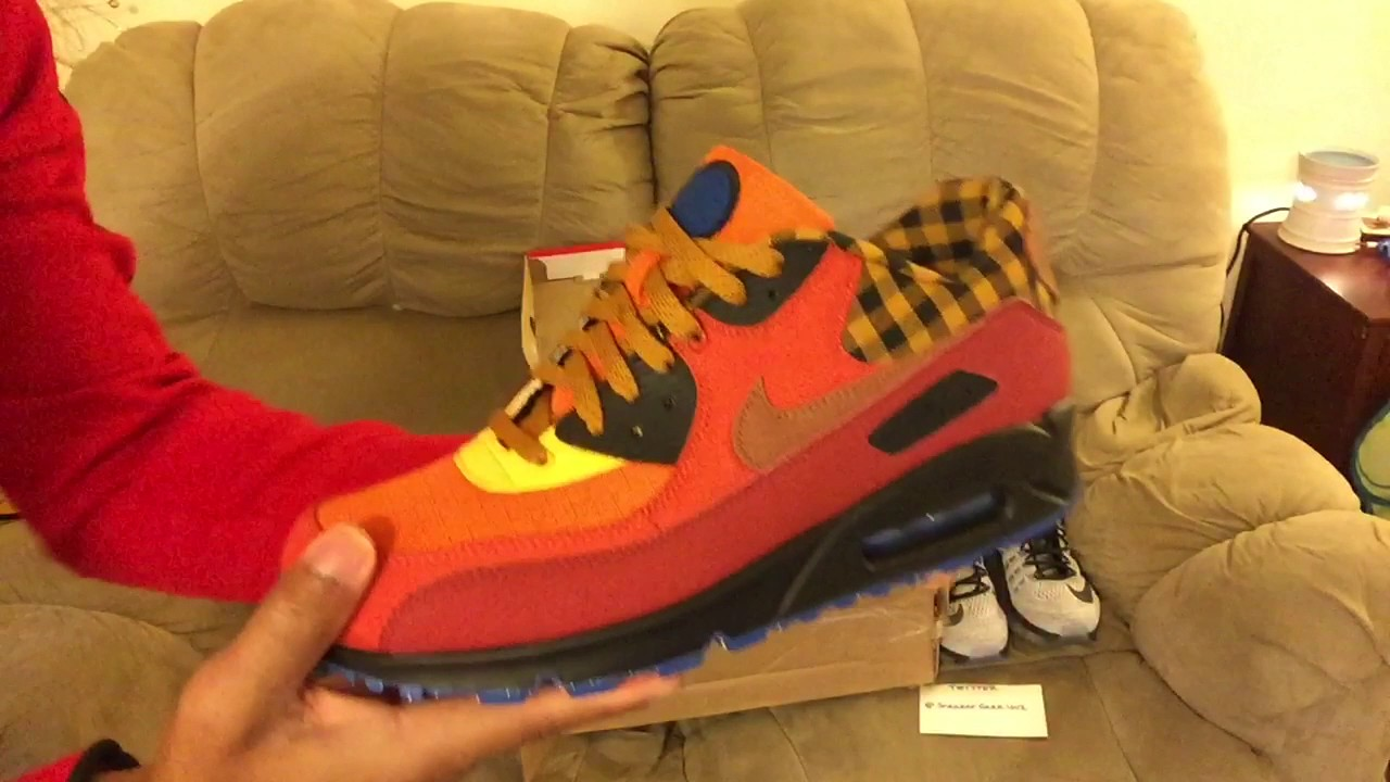 Nike Air Max 90 Premium unboxing #16 (Campfire) YouTube
