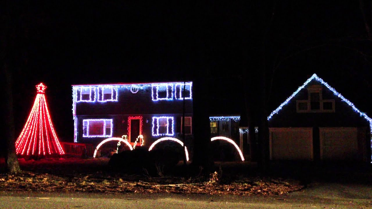 Amazing Christmas Light Show Timed With Music - Heavy Metal - YouTube