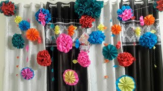 How to make crepe paper flowers in your home...and how to decorate