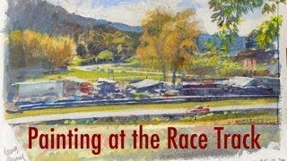 Painting at the Race Track
