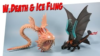How to Train Your Dragon 2 Ice Fling Toothless & White Whispering Death