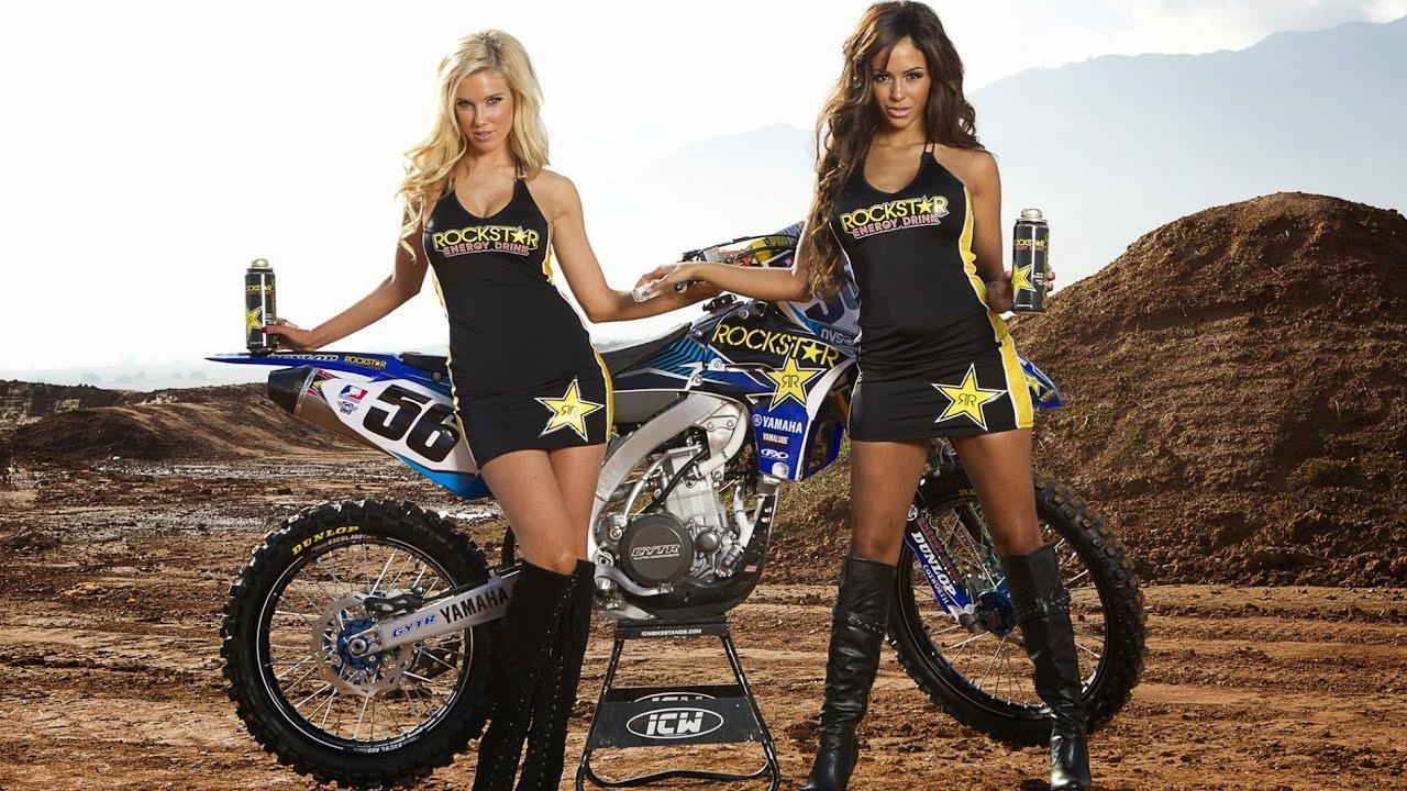 Motocross Girl Blonde Motorcycle Bike Motorbike Poster My Hot Posters