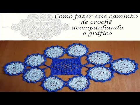 Caminho de crochê (fácil) com gráfico passo a passo