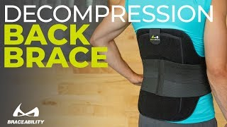 Spinal Decompression Brace with Hot & Cold Therapy for Back Pain Treatment by BraceAbility
