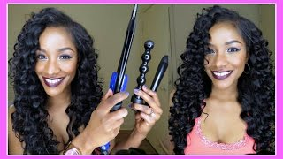 8 Curling Wand Sizes in One Set! Irresistible Me Sapphire 8 in 1 Complete Curler