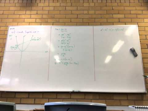 060815 11.10) Parametric Equations of the Parabola and 11.11) Chords, Tangents and Normal (1-4)