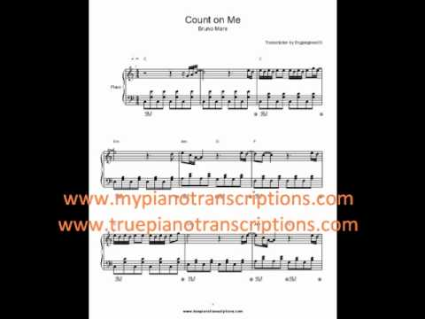 Count On Me Bruno Mars Sheet Music Youtube