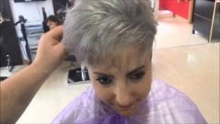 how to make gray hair como hacer un gris