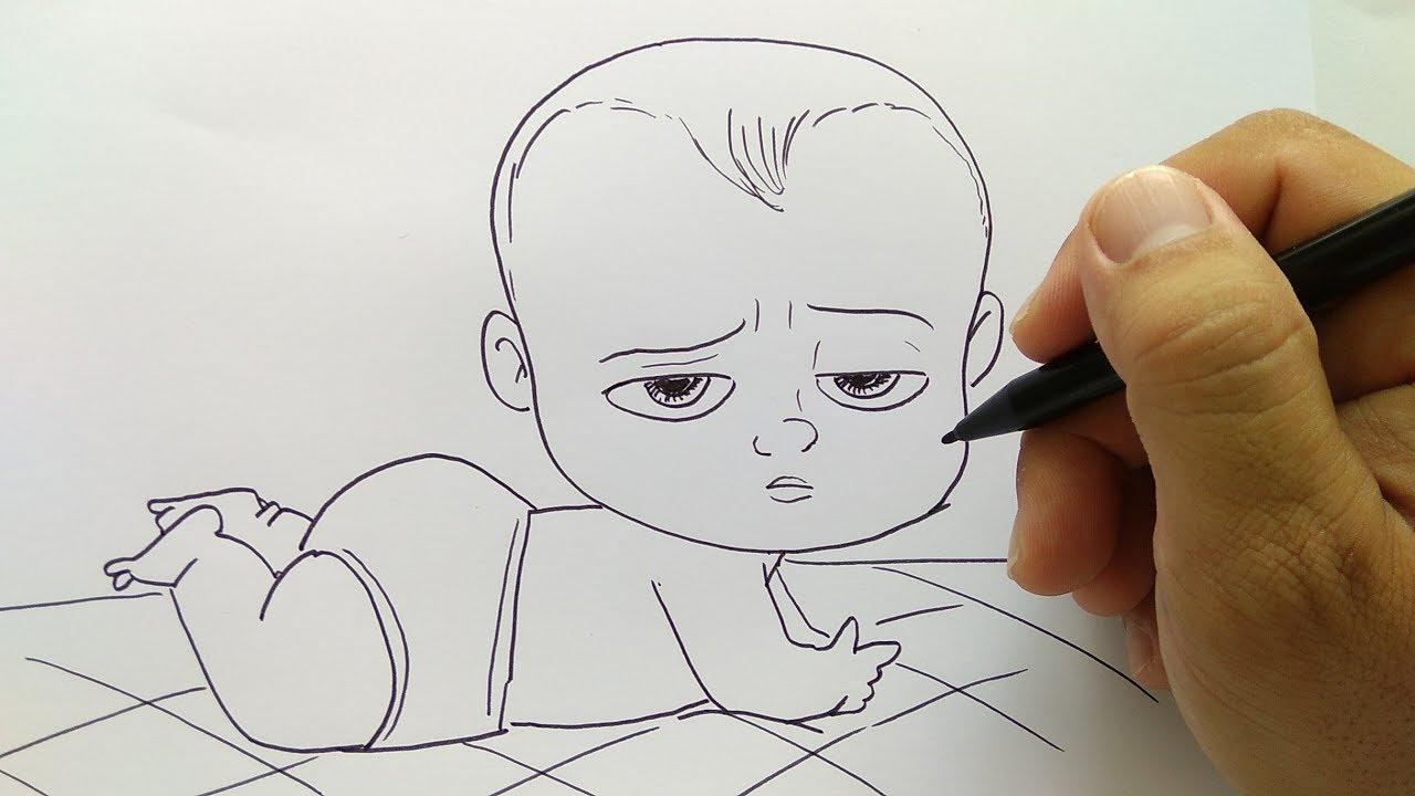 Cara Menggambar Boss Baby