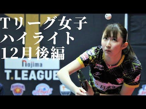 卓球Tリーグ2020.12月後半女子ハイライト 早田ひな、リーグトップの14勝