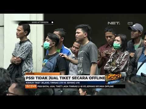 Warga Ricuh,Tiket Laga U 19 Indonesia VS Jepang Tidak di Jual offline