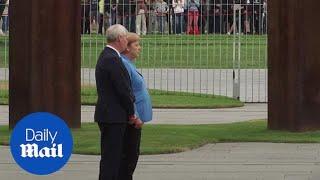 Angela Merkel appears unsteady during Finnish PM visit