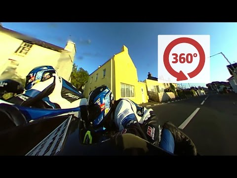 AMAZING 360 degrees Sidecar On Board with Karl Bennett and Lee Cain - TT 2016