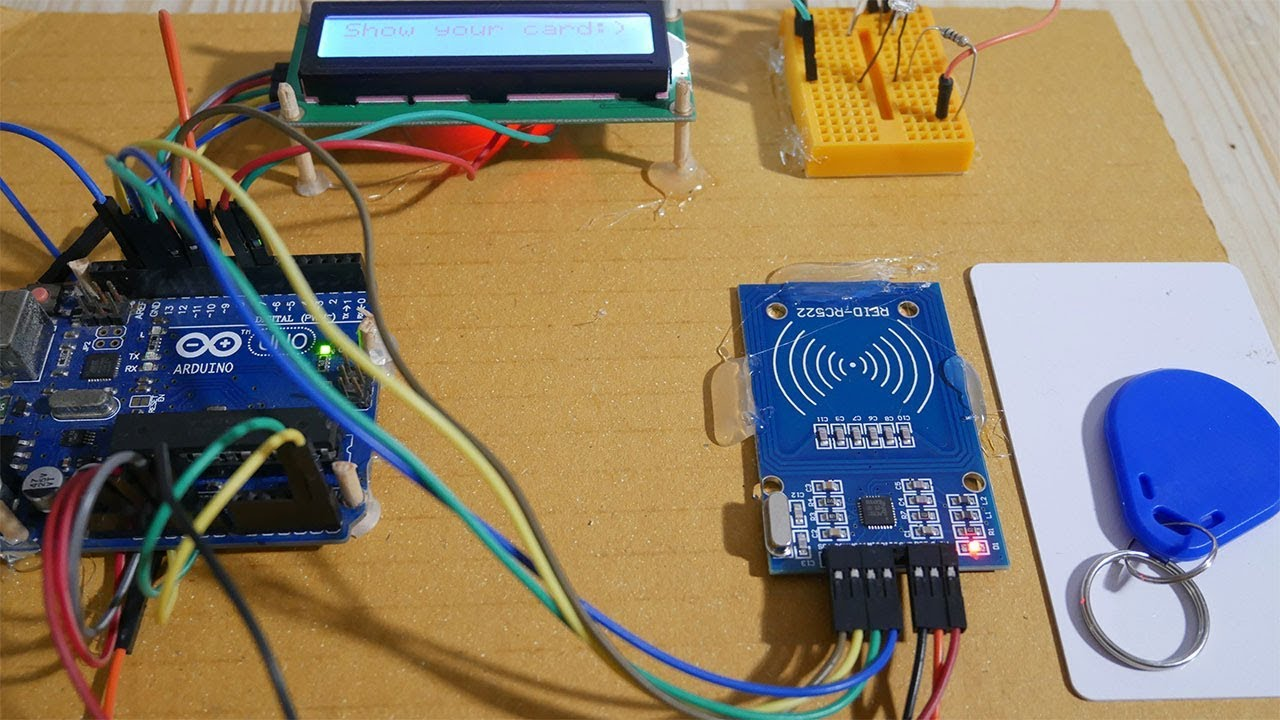 RFID-RC522 on Arduino with LCD i2c display - Arduino Tutorial