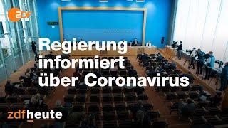 Die Bundespressekonferenz mit einem Corona-Update vom 16. März 2020