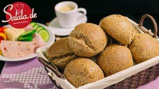Keto-Brötchen - Low Carb Brot Rezept Sonntags-Semmeln  - 1. Video :D - salala.de
