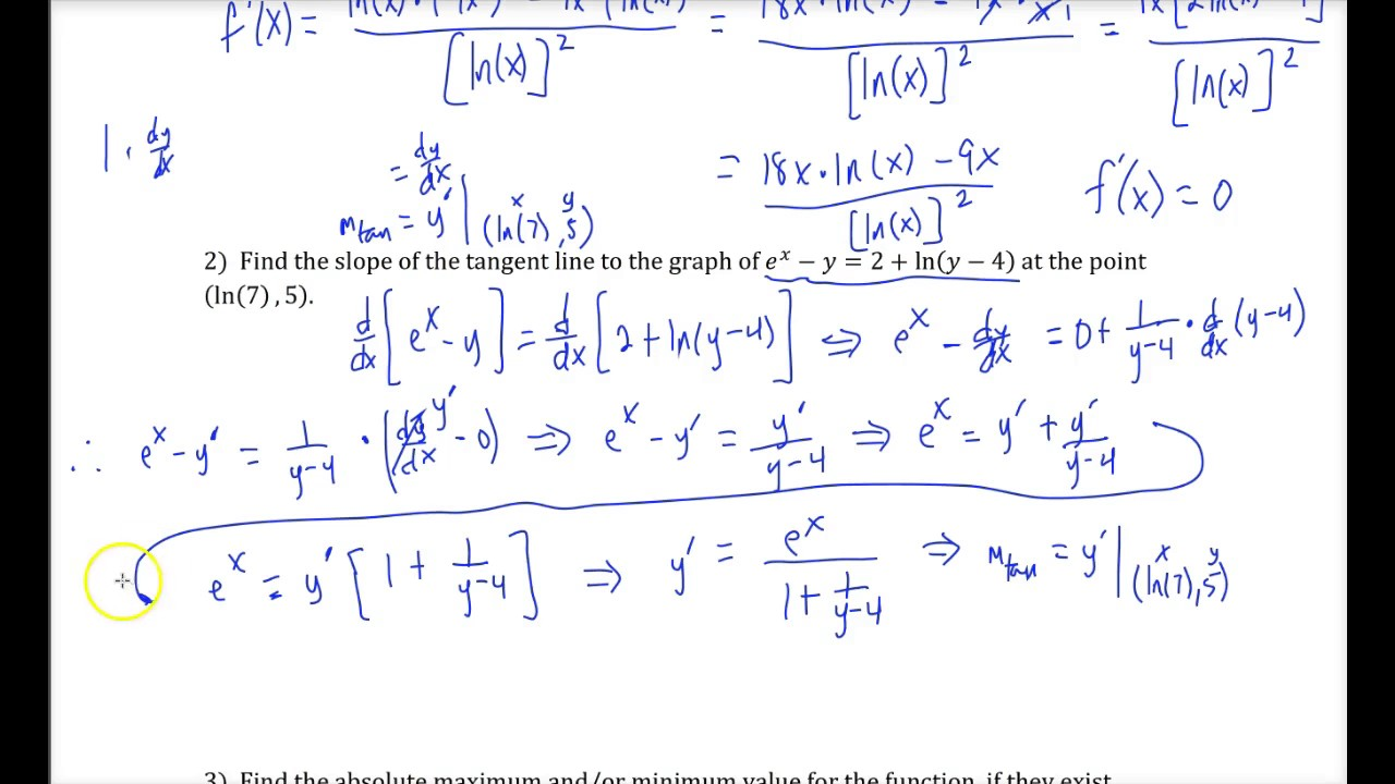 Exam 2 Review (Business Calculus)