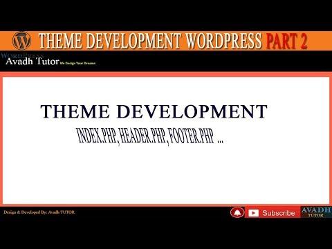wordpress theme development ||how to create custom theme wordpress || wordpress tutorial thumbnail