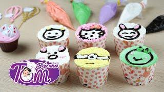 Cùng Bếp Nhà Tôm vẽ hình con vật Ngộ Nghĩnh cho bánh Cupcake  Bếp Nhà Tôm