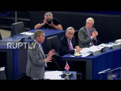 Belgium: Farage lets fly at EU