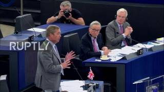 Belgium: Farage lets fly at EU