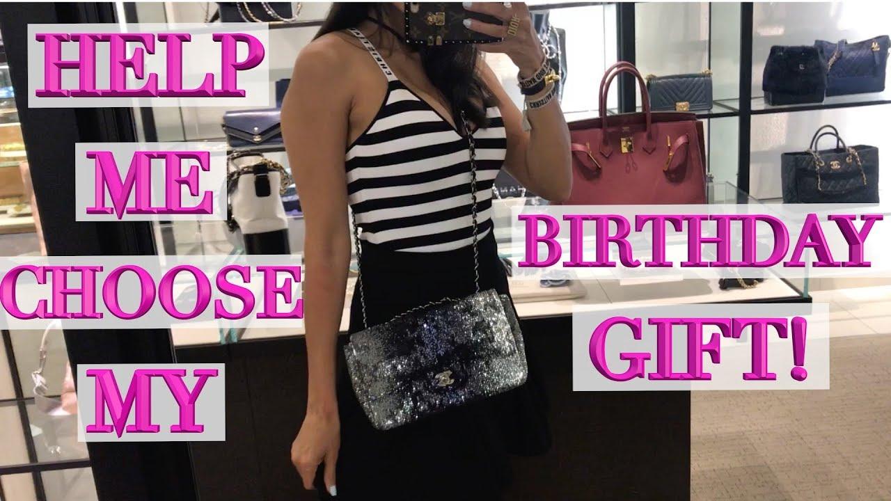 8cda9e760a65 Help Me Pick My Birthday Bag! Shopping at Chanel, Gucci & Dior - YouTube