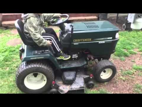 Craftsman Garden Tractor 225 hp Kohler Command YouTube