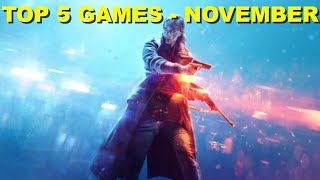 Top 5 Games Coming Out In November 2018 -  On All Consoles - Xbox One - Ps4 - Pc