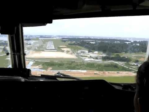 Anflug auf Singapur Seletar Airport