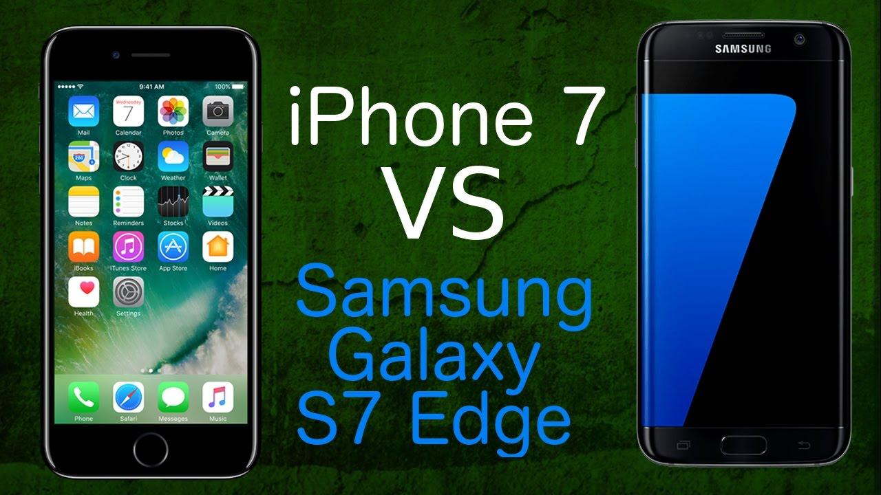 Samsung Galaxy S7 Vs Iphone 7 Porównanie
