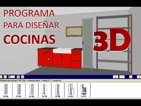 Software para dise o de muebles closets y cocinas cor for Software para diseno de cocinas