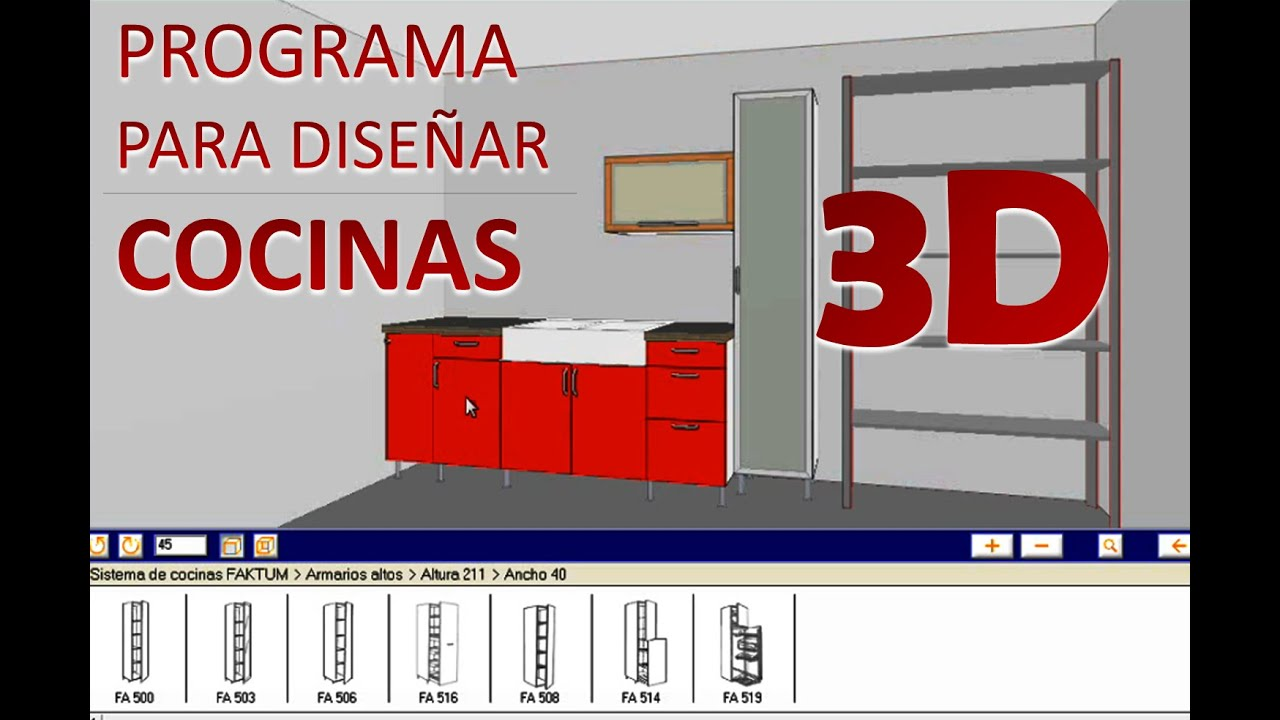 Programa para dise ar cocinas 3d ikea home planner youtube for Crear muebles 3d